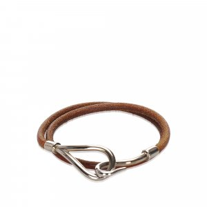 Hermes Leather Jumbo Hook Choker