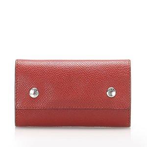 Hermès Etui voor sleutels rood Leer