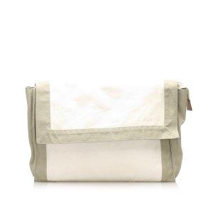 Hermès Sac seau blanc cuir
