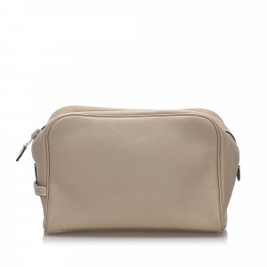 Hermes Leather Victoria Pouch