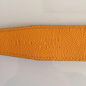 Hermès Ceinture réversible orange doré-ocre cuir