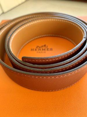 Hermès Cintura di pelle marrone-rosso-marrone chiaro
