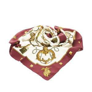 Hermès Bufanda burdeos Seda