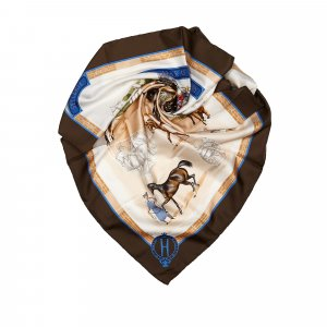Hermes Les Haras Nationaux Silk Scarf