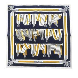 Hermès Scarf blue silk