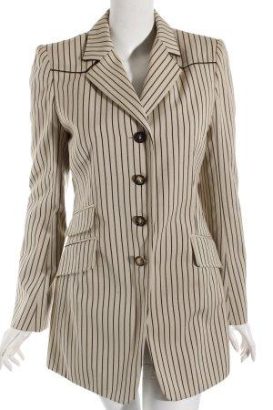 Hermès Long Blazer oatmeal-brown striped pattern classic style