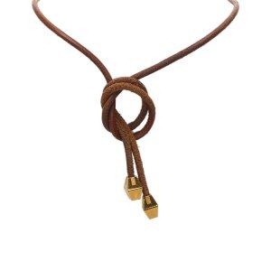 Hermes Loop Tie Choker Necklace