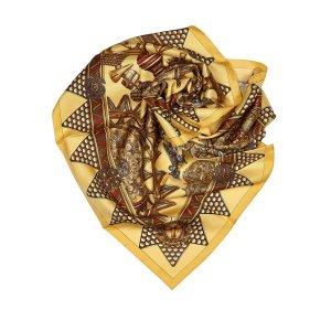 Hermès Sjaal geel Zijde