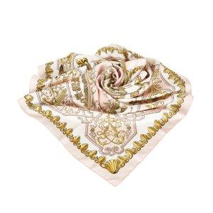 Hermès Scarf light pink silk