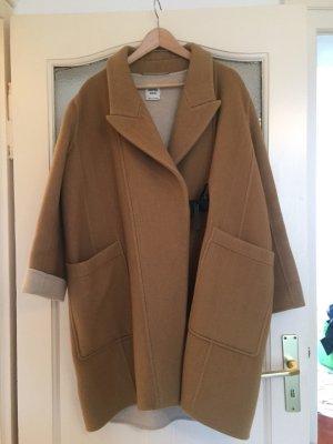 Hermès Płaszcz zimowy beżowy Kaszmir