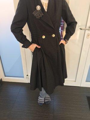 Hermès Cappotto in lana grigio scuro