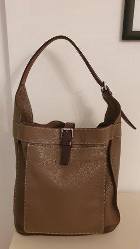 Hermès Shoulder Bag beige leather