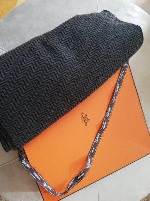Hermès Sjaal van kasjmier zwart-grijs Kasjmier
