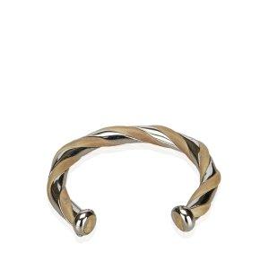 Hermès Pulsera color plata metal