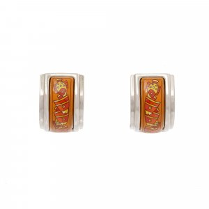 Hermes Metal Clip On Earrings
