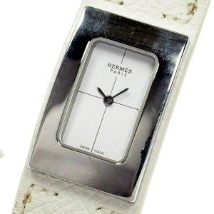 Hermès Reloj blanco acero inoxidable
