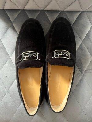 Hermès Mokasyny czarny Skóra