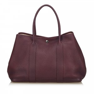 Hermès Tote purple leather