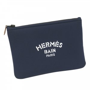 Hermès Borsellino blu Nylon