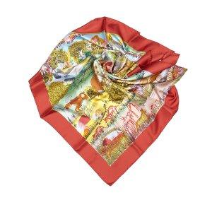 Hermès Sjaal beige Zijde