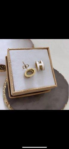 Hermès Pendientes de oro blanco