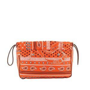 Hermès Torebka typu worek pomarańczowy Jedwab