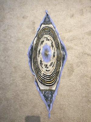 Hermès Neckerchief steel blue-black silk