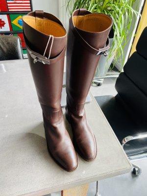 Hermès Buty jeździeckie brązowy