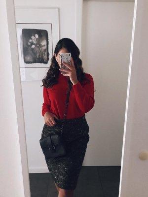 Hermès Tweed Skirt black brown