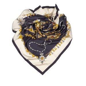 Hermès Sjaal donkergrijs Zijde