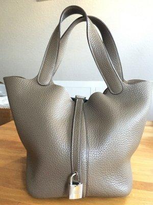 Hermès Picotin Lock 22 MM Etoupe / Silver