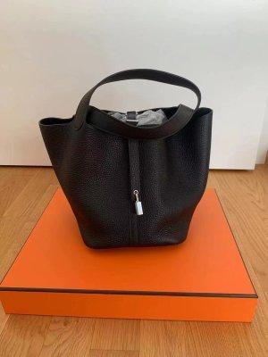 Hermès Handbag black-silver-colored