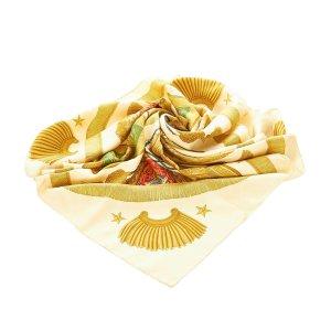 Hermès Scarf gold-colored silk