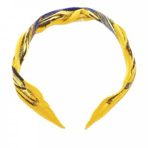 Hermes Printed Pleated Silk Scarf