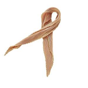 Hermès Bufanda marrón claro Seda