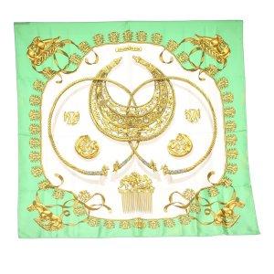 Hermès Scarf green silk