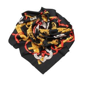 Hermès Bufanda negro Seda