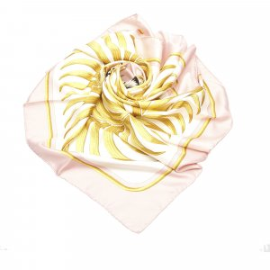 Hermès Scarf beige silk