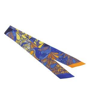 Hermes Printed Twilly Silk Scarf