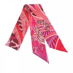Hermes Printed Twilly Silk Scarf