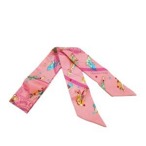 Hermès Sciarpa rosa pallido Seta