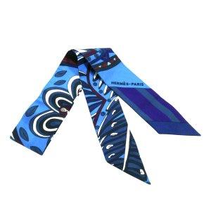 Hermès Sciarpa blu Seta