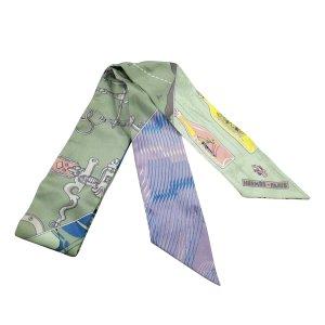 Hermès Sciarpa verde Seta