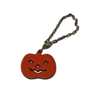 Hermès Key Chain orange leather