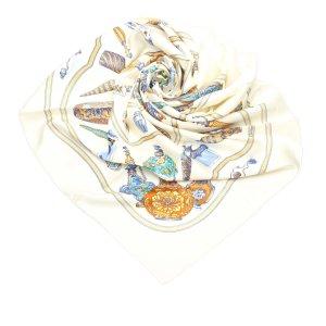 Hermès Bufanda blanco Seda