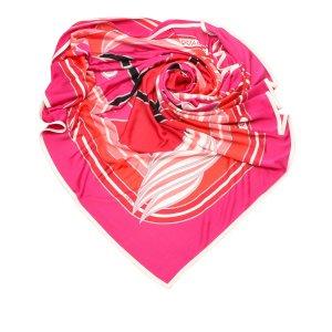 Hermès Bufanda rosa Seda