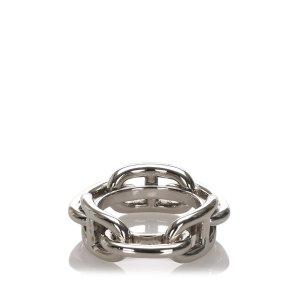 Hermès Sjaal zilver Metaal