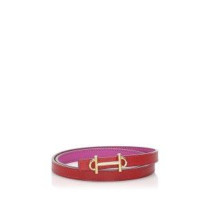 Hermès Cinturón rosa Cuero