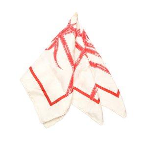 Hermès Scarf red silk