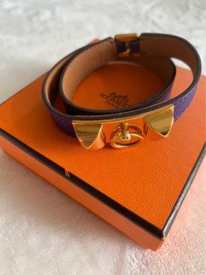 Hermès Bracelet en cuir multicolore